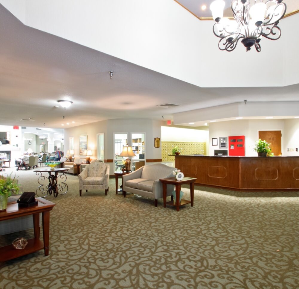 Independence village of olde raleigh lobby area