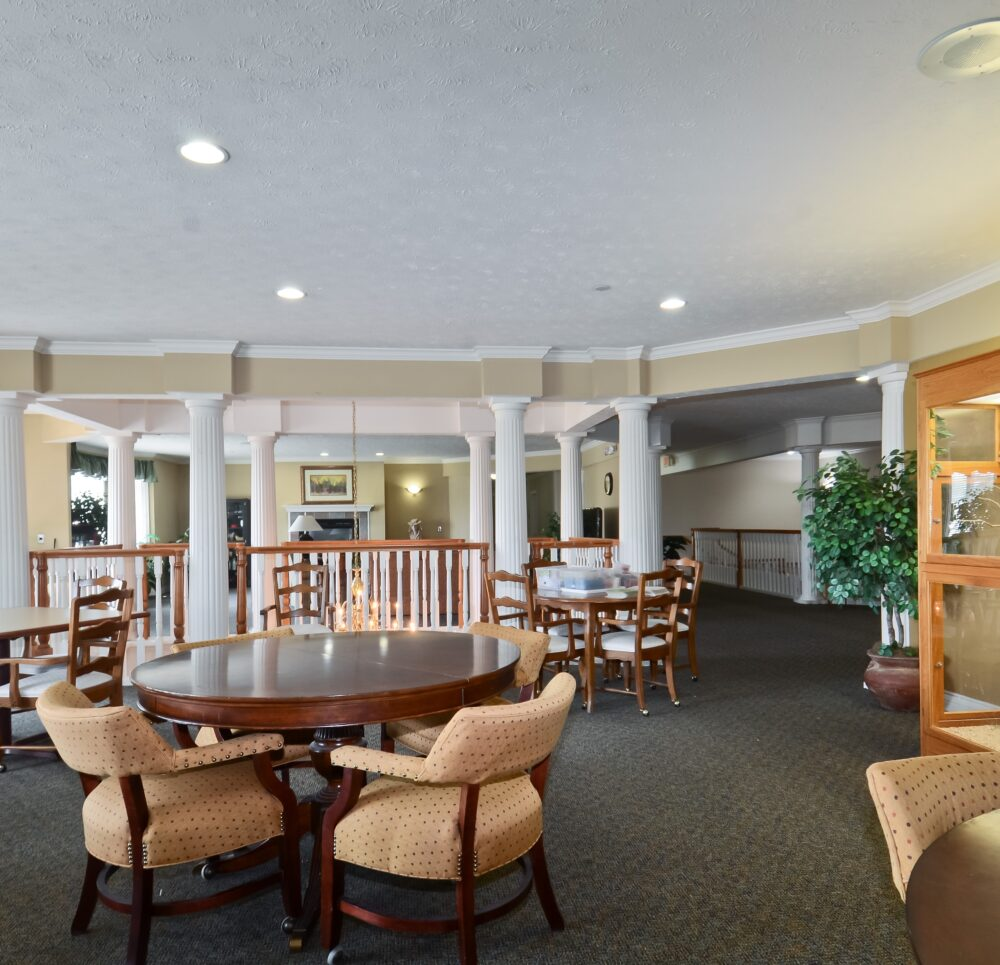 seating area at the greenbriar village