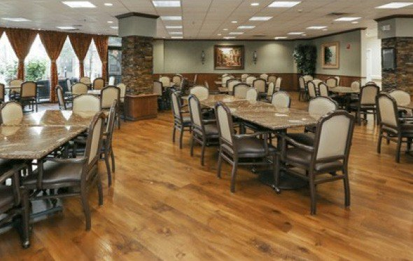 Elegant and spacious dining area at Rosemont in Humble, Texas.