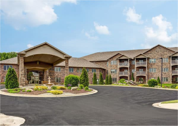 The outside of a senior living facility in Green Bay, Wisconsin.