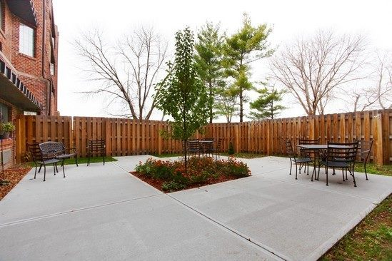 Outdoor courtyard for memory care residents