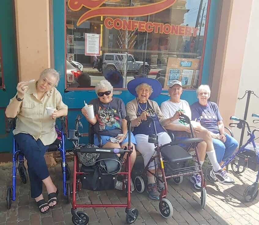 group of senior women on an outing