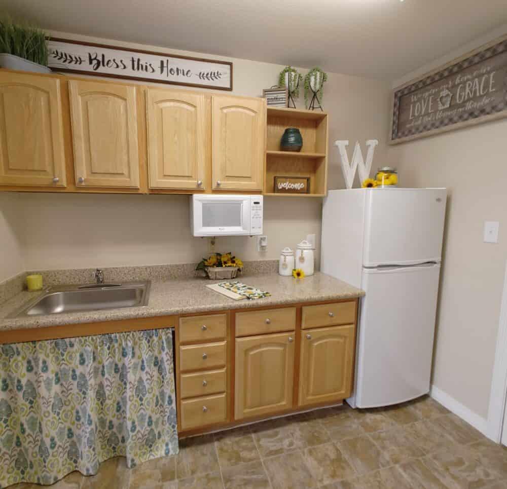 senior apartment kitchen
