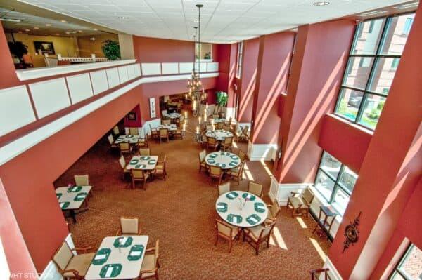 Dining room at The Wellington at North Bend Crossing in Cincinnati, Ohio.