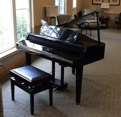 Keystone Wood's grand piano.