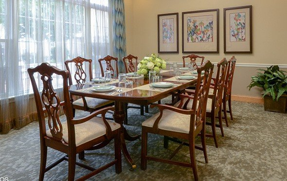 The private dining room at Keystone Woods in Anderson, Indiana.