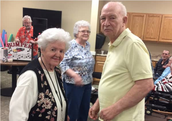 Residents enjoying a dance class in Anderson, Indiana.