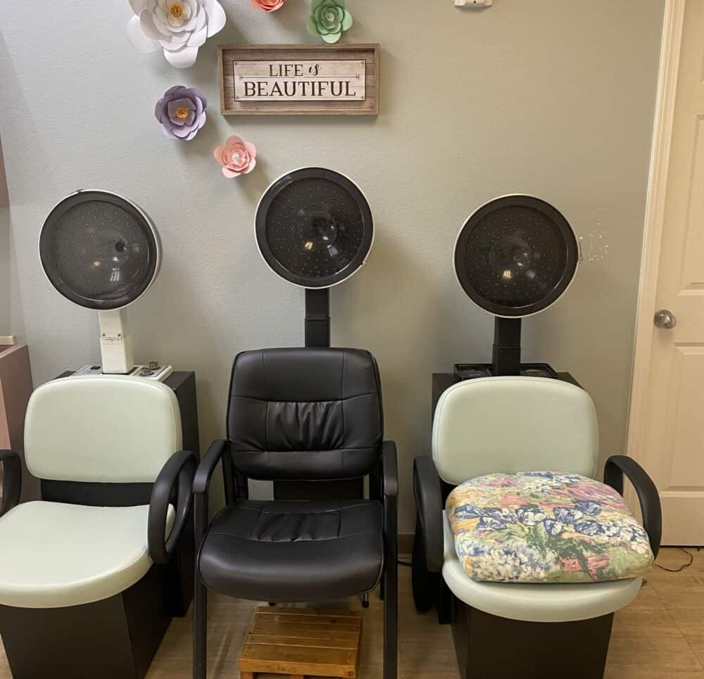 On-site beauty salon at the Waterford at Mansfield, a senior living community in Mansfield, Ohio.