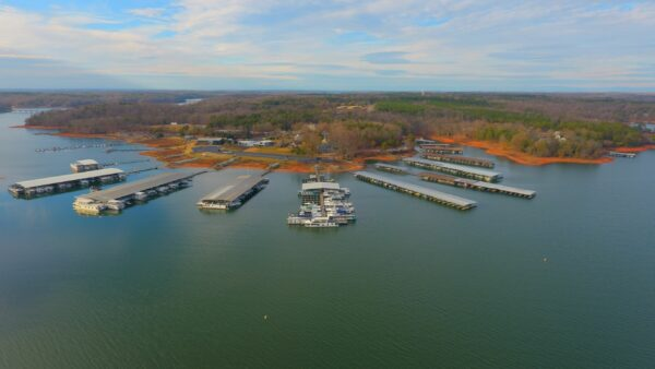 Sportsmans Marina on Lake Hartwell in Anderson, South Carolina.