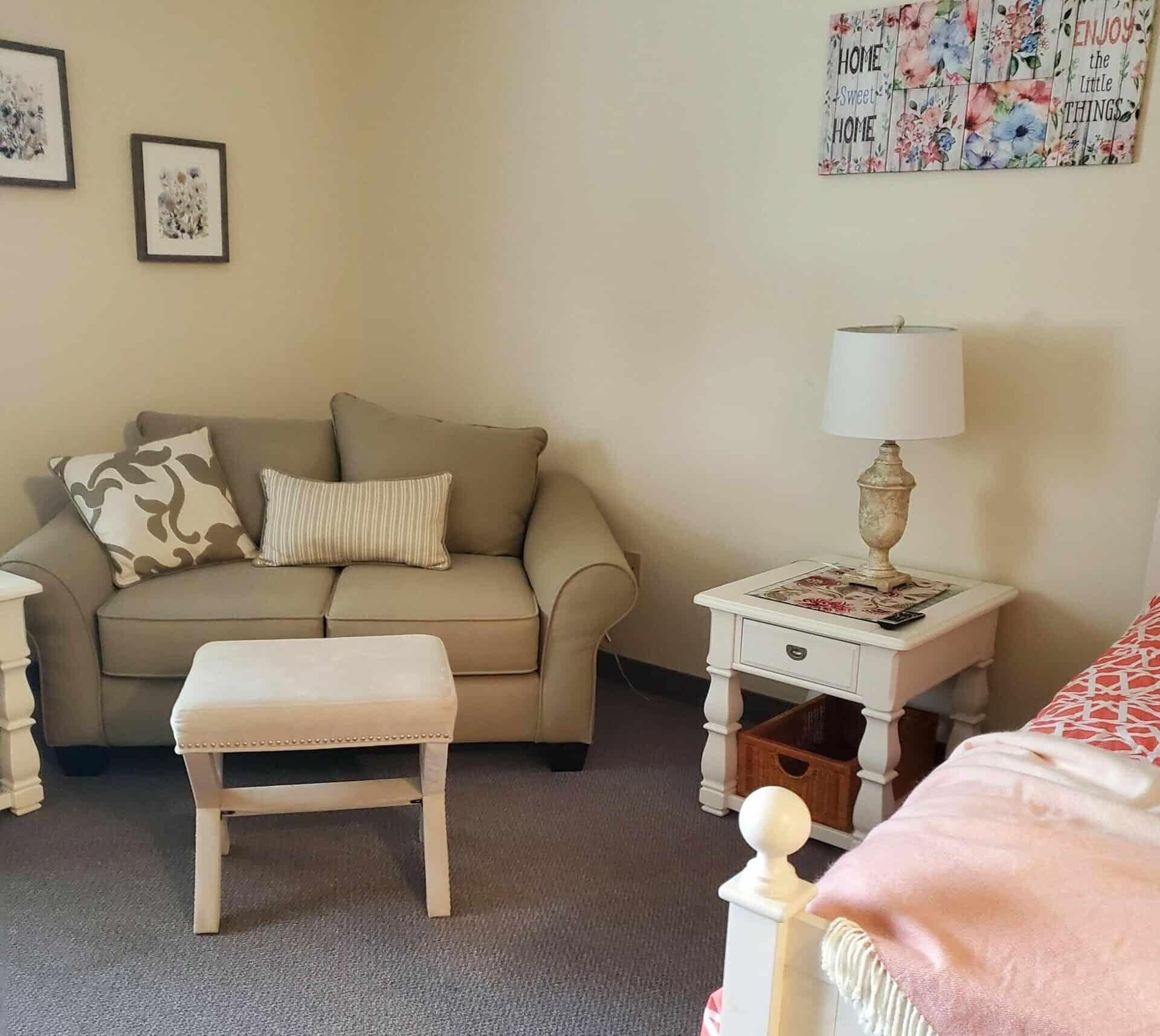 studio apartment at whispering pines senior living in Columbiana, Ohio