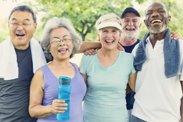 Senior Group of Friends Exercise together