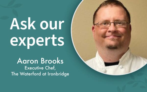 Aaron Brooks is a chef at the Waterford at Ironbridge in Springfield, Missouri.