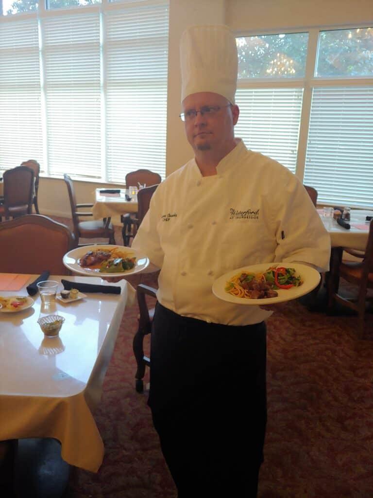 Chef Aaron Brooks at the Waterford at ironbridge senior living community in Springfield, Missouri