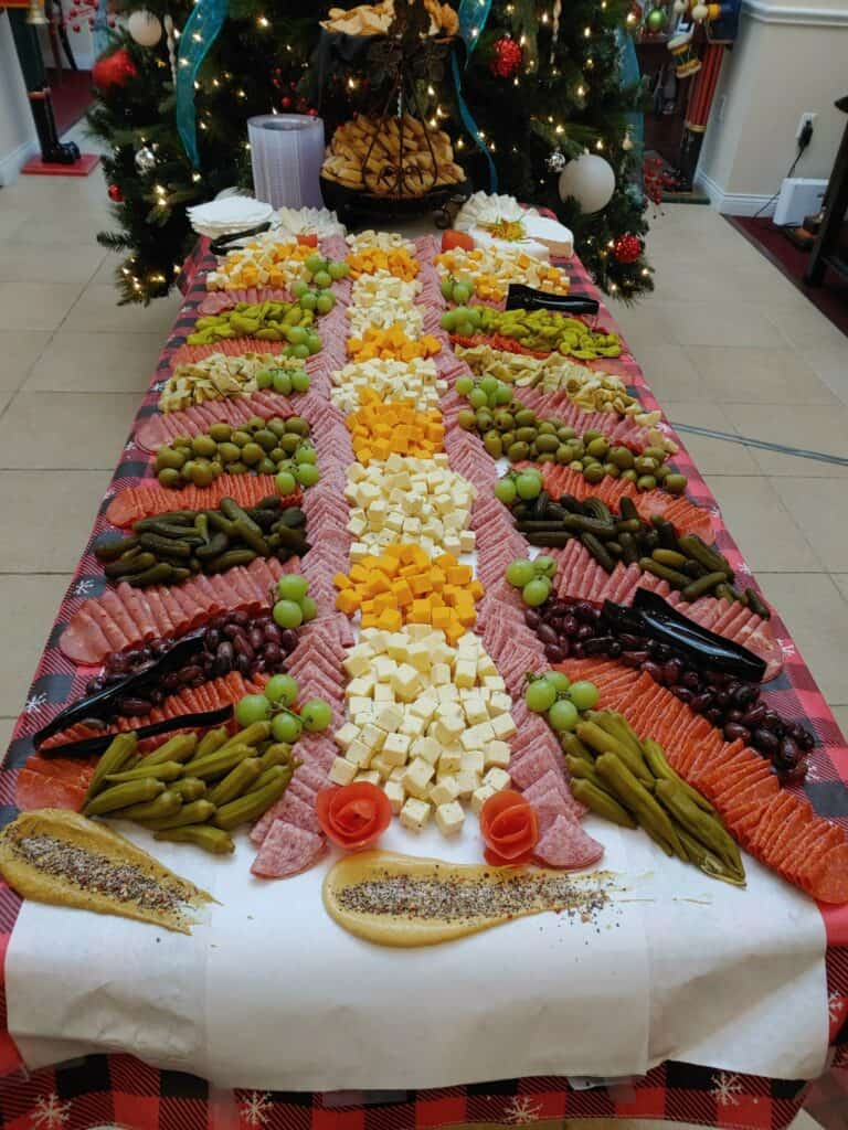 Charcuterie board at the Waterford at ironbridge senior living community in Springfield, Missouri