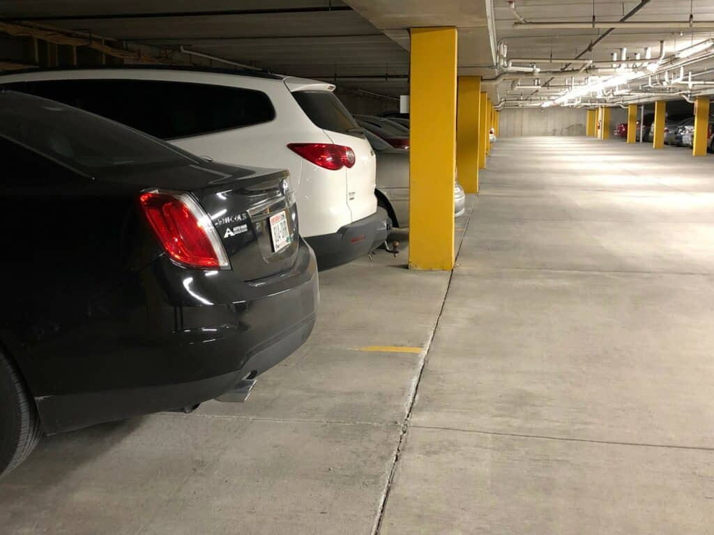 Parking garage at Brookview Meadows in Green Bay, Wisconsin.
